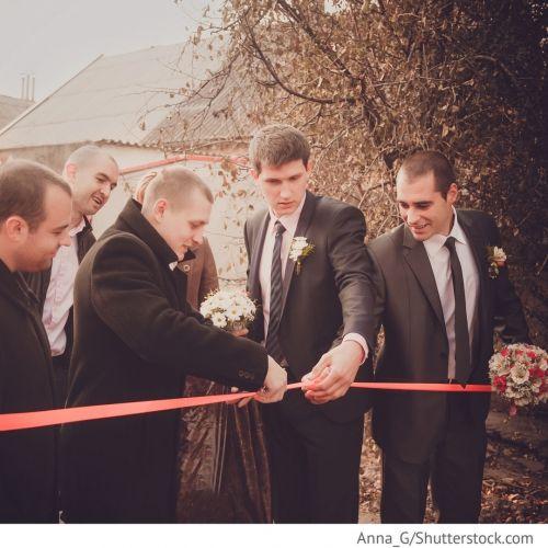 Выкуп невесты на русской свадьбе