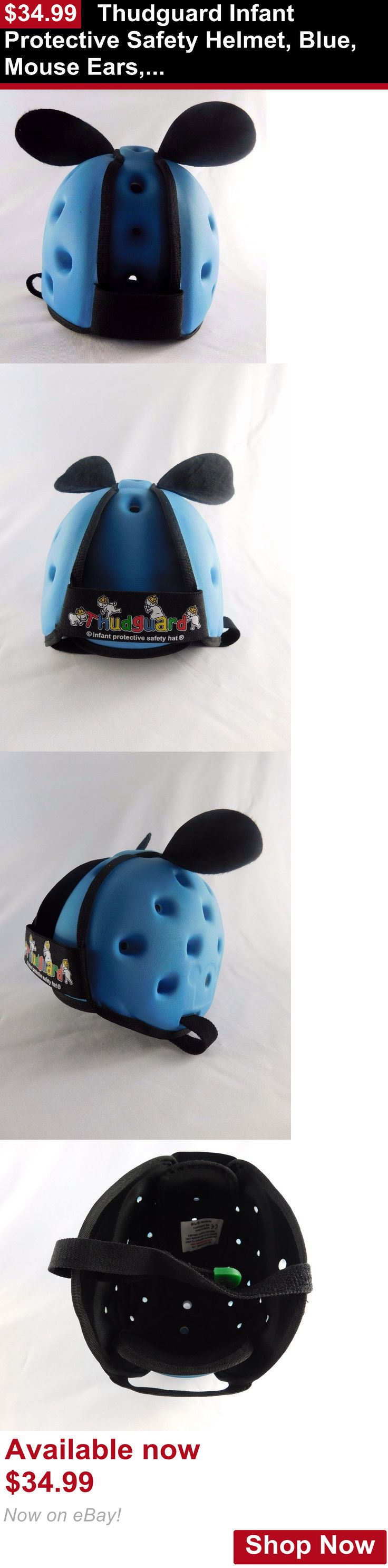 Other Baby Safety and Health: Thudguard Infant Protective Safety Helmet, Blue, Mouse Ears, Os, No Packaging BUY IT NOW ONLY: $34.99