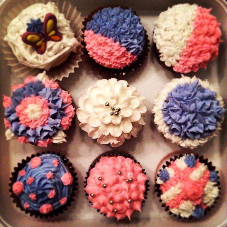 Cupcake shower de bebe