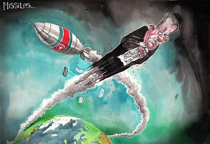 Federal Court launches missile -  David Rowe