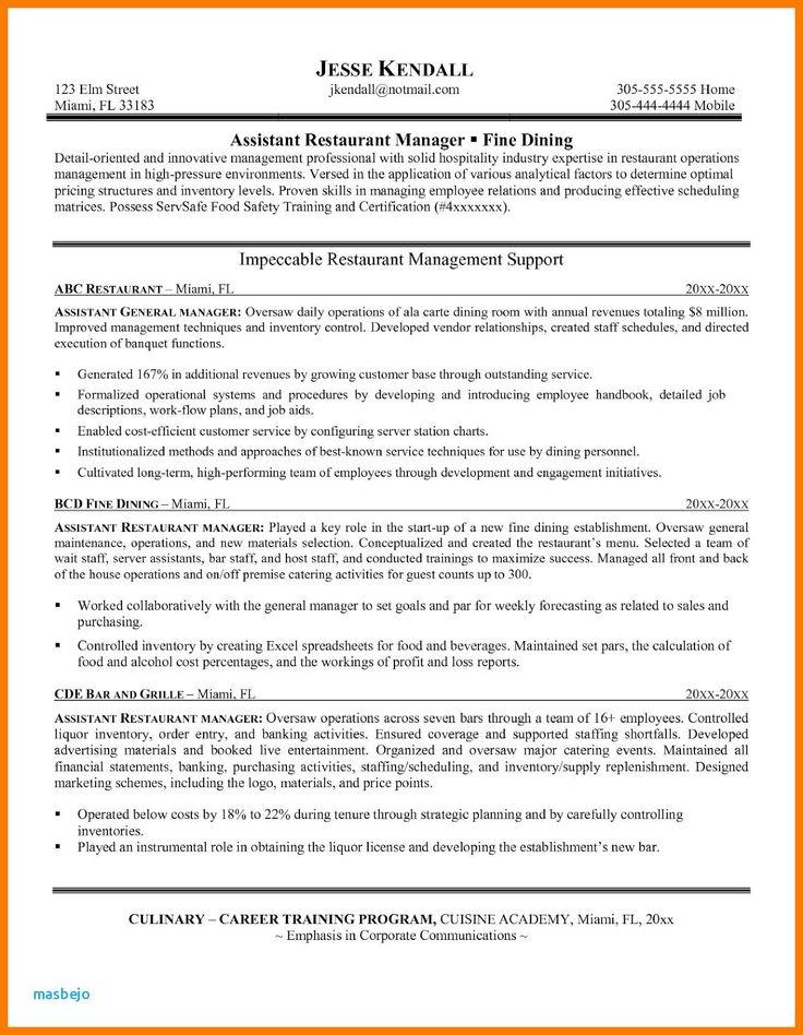 18+ Bar manager resume job description ideas in 2021