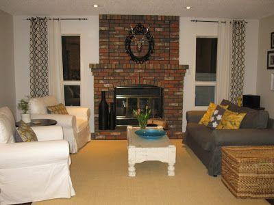 creating domestic bliss: White Wash Fireplace, whitewash gone wrong!