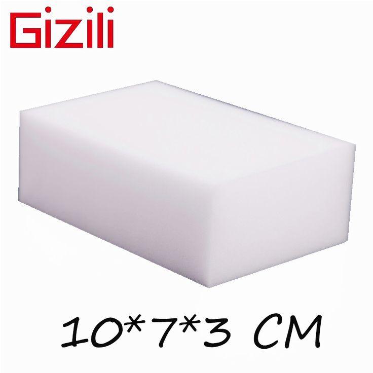 GIZILI 50 unids/lote alta calidad Magia Esponja Melamina del Borrador de la esponja Limpia para Cocina Baño Oficina de Limpieza 10x7x3 cm
