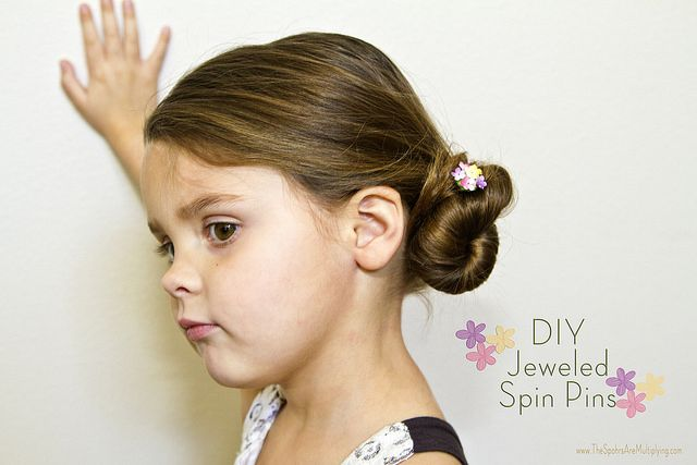 The Spohrs Are Multiplying  DIY Jeweled Spin Pins