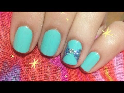 Easy Bow Nail Art With Tape !