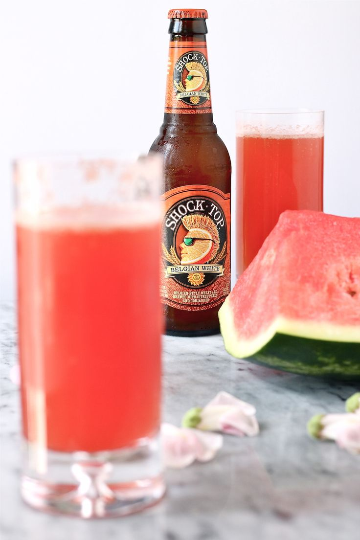 Watermelon Beer! (Perfect with some ShockTop)