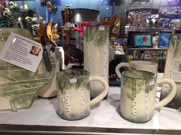 Pottery available at The Showcase, Confederation Centre of the Arts.
