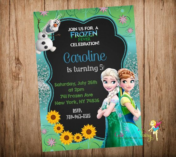 Hey, I found this really awesome Etsy listing at https://www.etsy.com/listing/227846284/frozen-fever-birthday-invitation-disney