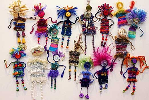 Weave People (Some with button faces, button shoes or button on outfits)