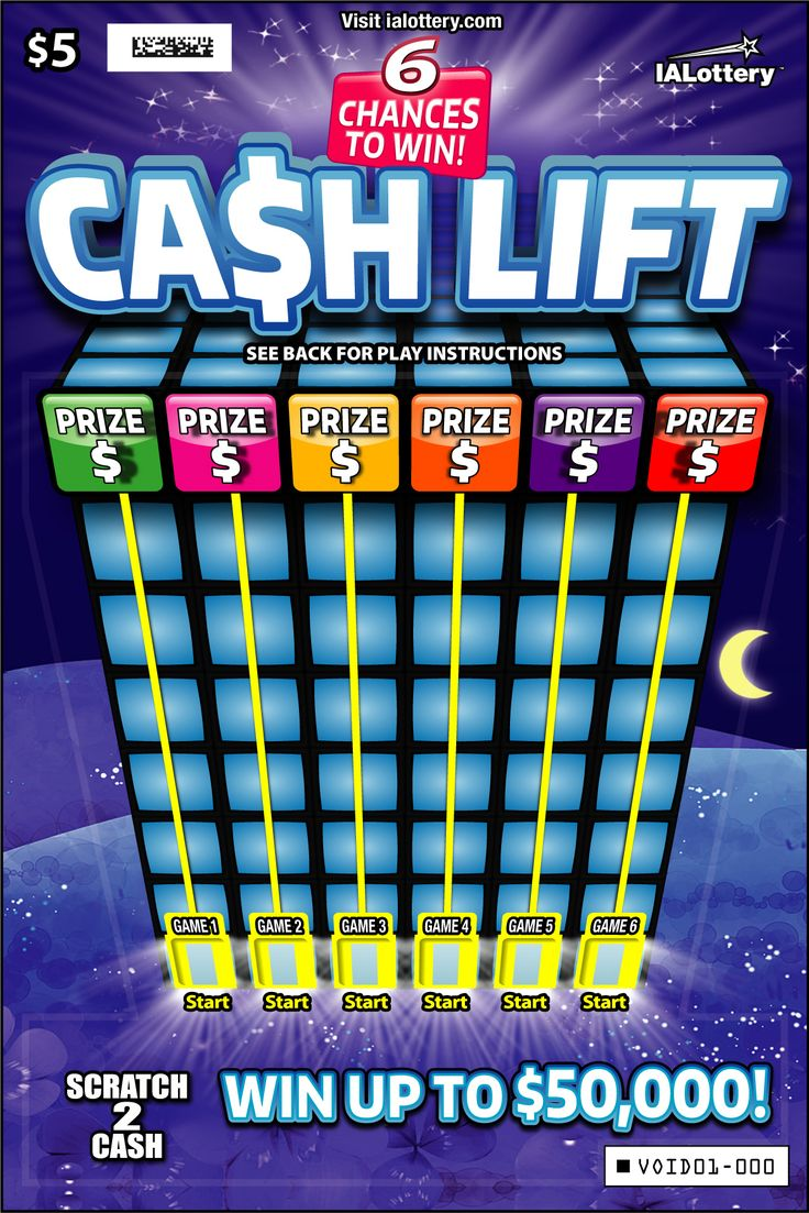 Cash Lift launched at Iowa Lottery retailers on July 3, 2017. This $5 game offers top prizes of $50,000!