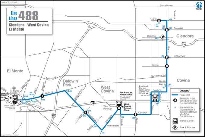 Foothill Transit Bus Schedule 488