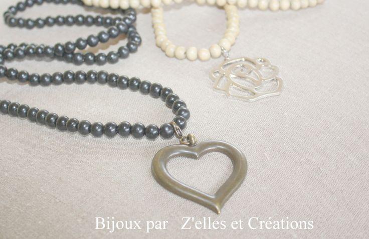 Quelques perles assemblées... de jolis pendentifs à clipper selon vos humeurs et vos couleurs du jour !