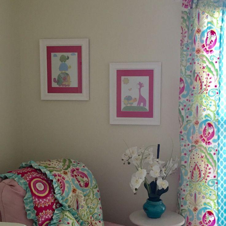 Kids wall art decor nursery wall art set of 4 prints elephant nursery art nursery décor match colors caden lane finley catalina decor