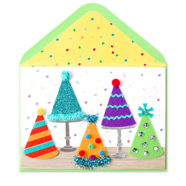 5 Party Hats - Birthday Cards | PAPYRUS