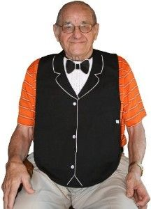 bibs for adults | Frenchie Mini Couture Men's Adult Bib, Black Tuxedo | Shop fashion ...