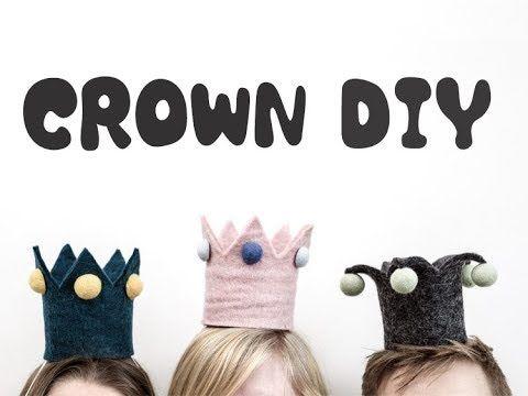 【無料テンプレートあり】赤ちゃんの王冠を手作り。1歳誕生日やハーフバースデーのお祝いに! - YouTube