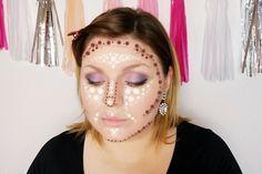 Ein rundes Gesicht konturieren - hier gibt es die Anleitung in Deutsch!  How to Contour a round face