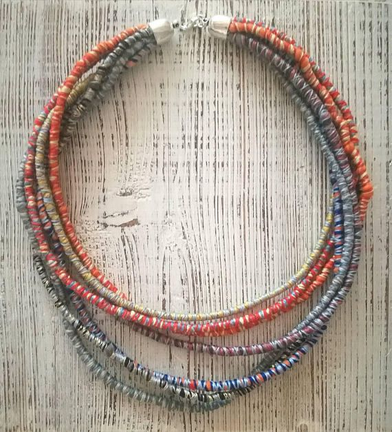 Check out this item in my Etsy shop https://www.etsy.com/listing/534279622/etno-boho-multistranded-felt-necklace