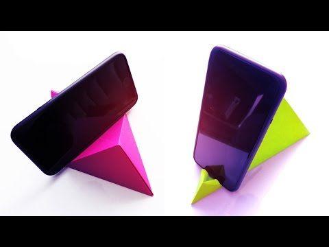 Base para celular de papel origami manualidades diy - Youtube manualidades de papel ...