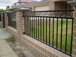 Iron and brick fencing mega bucks dream fence but in red brick