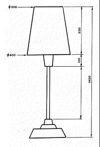 Printable Lamp Shade Patterns   The orthogonal drawing below shows the dimensions of the lounge chair ...