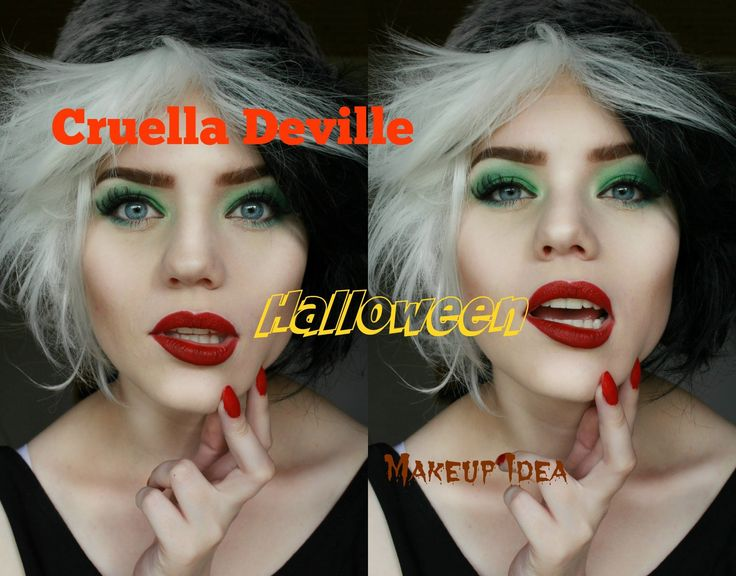Cruella Deville Halloween Tutorial                                                                                                                                                                                 More