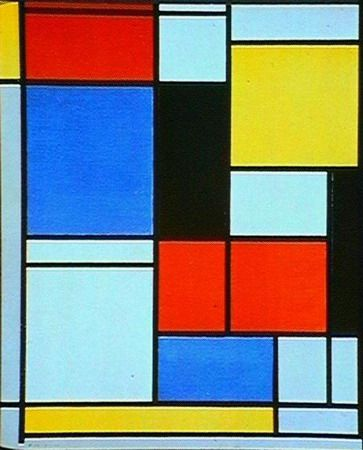 Painting Piet Mondriaan - inspired by the Dutch landscape