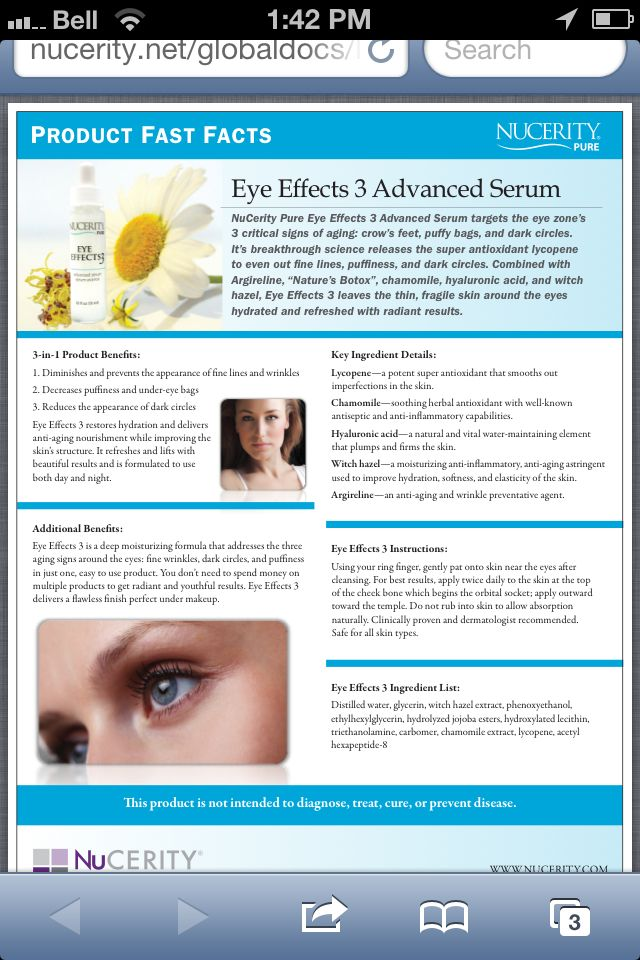 Eye Effects 3.. All natural anti aging serum that targets 3 areas; crows feet, dark circles under the eyes and bags!!