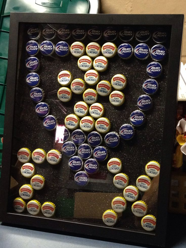 Sigma Chi bottle cap shadow box