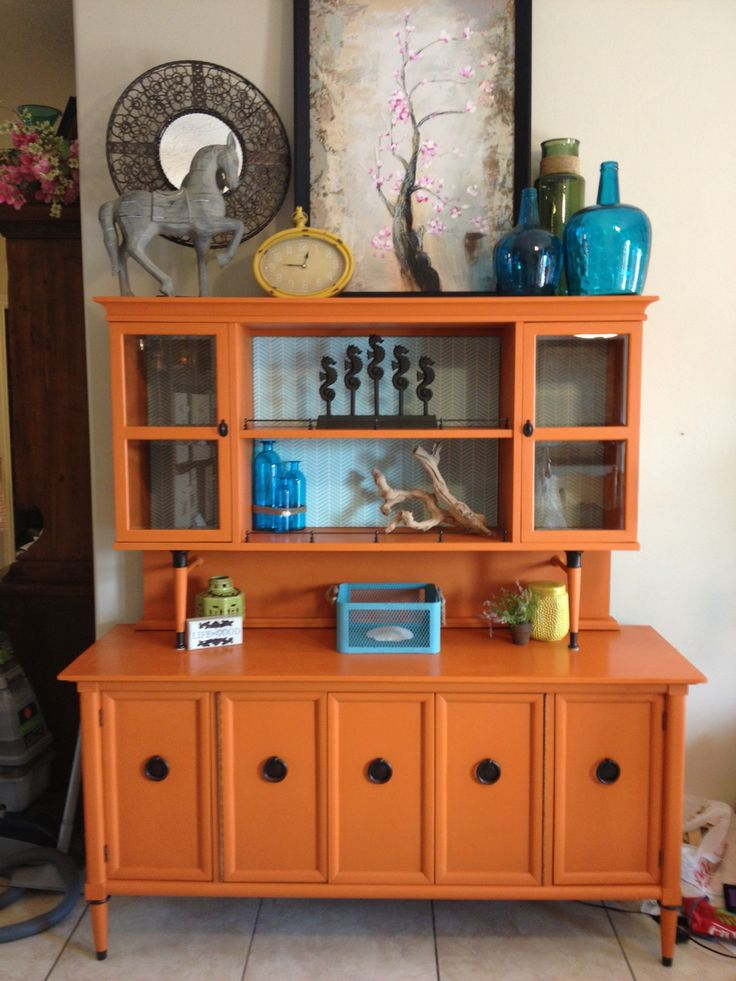 Painted by an awesome client of mine in Barcelona Orange #chalkpaint by @anniesloanhome