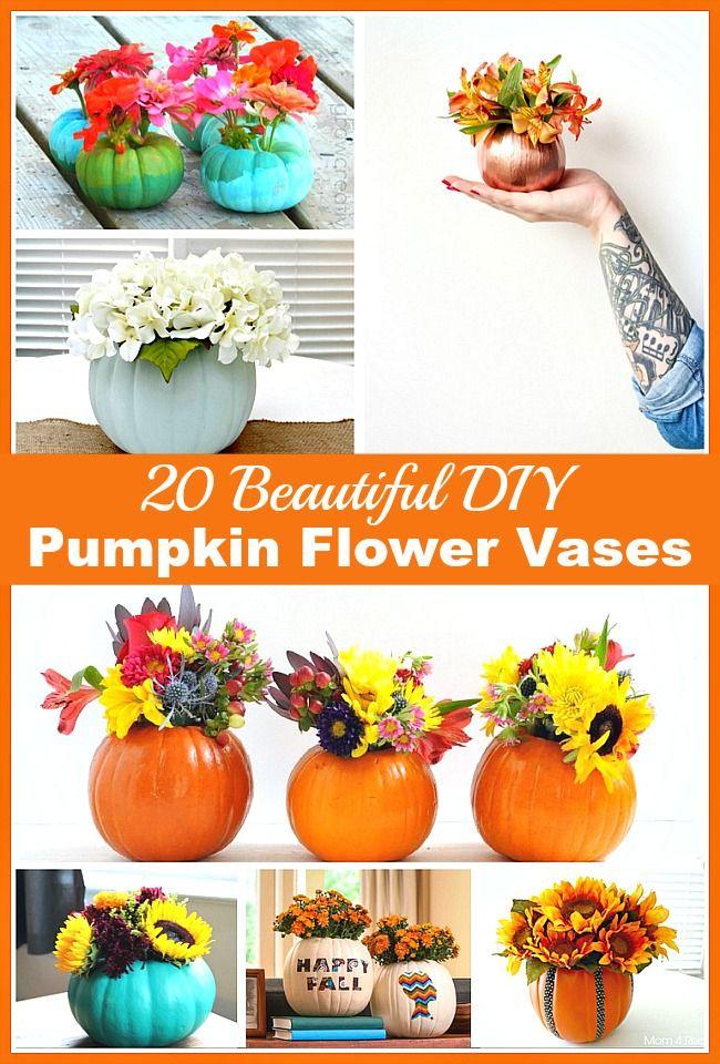 20 beautiful diy pumpkin flower vases fall home decor beautiful and pumpkins Diy home decor flower vase