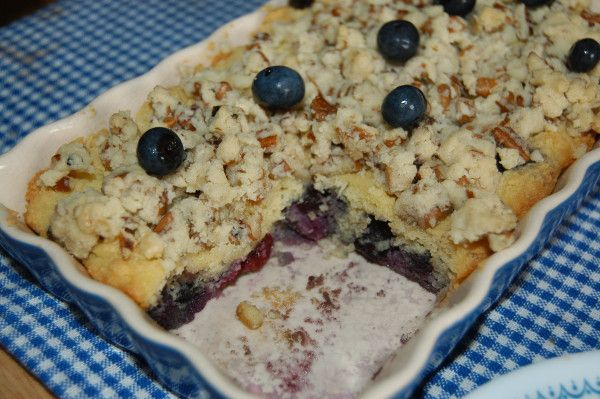 Blueberry Coffee Cake (Blueberry Buckle)~ Grain Free & Sugar Free
