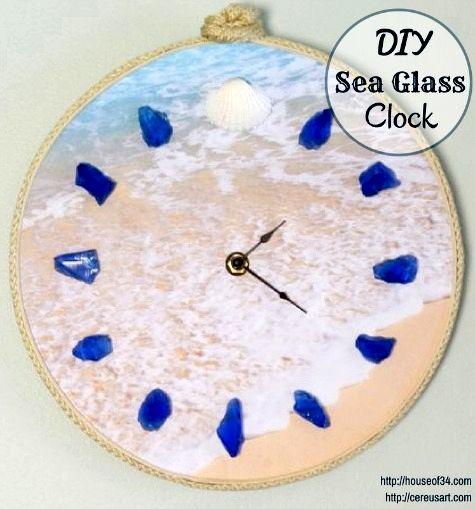 Go on Beach Time with a DIY Beach Photo Clock! http://www.completely-coastal.com/2014/09/diy-beach-clock.html