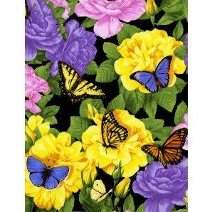 Mooie vlinders en kleurrijke bloemen