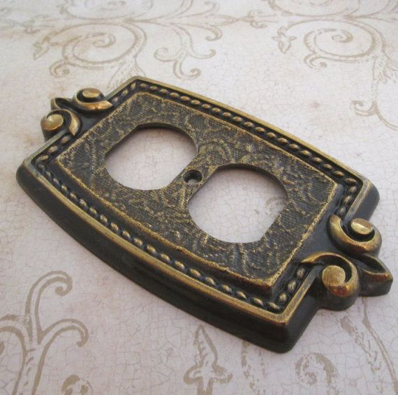 Outlet cover plate amerock vintage switchplate for Unique light switch plates