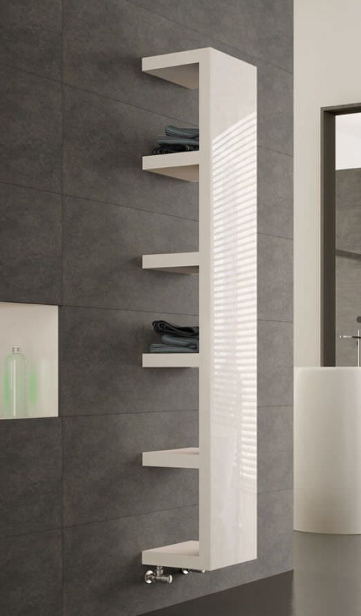 Hot water radiator / wall-mounted / steel / vertical QUADRAQUA by Domenico De Palo IRSAP