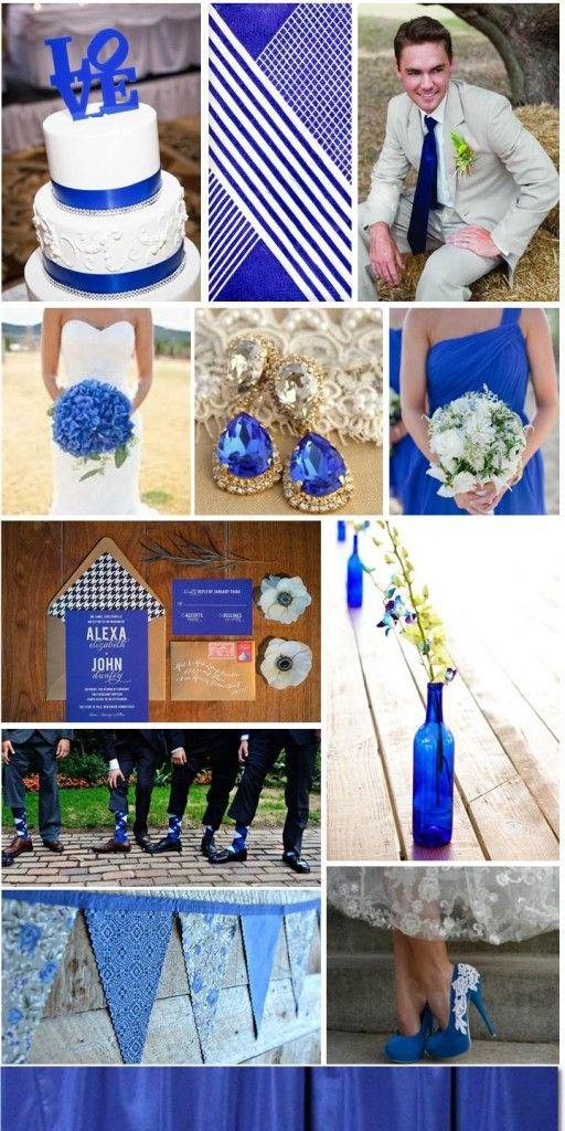 Royal Blue Wedding, inspiration board by The Simplifiers | Austin, TX