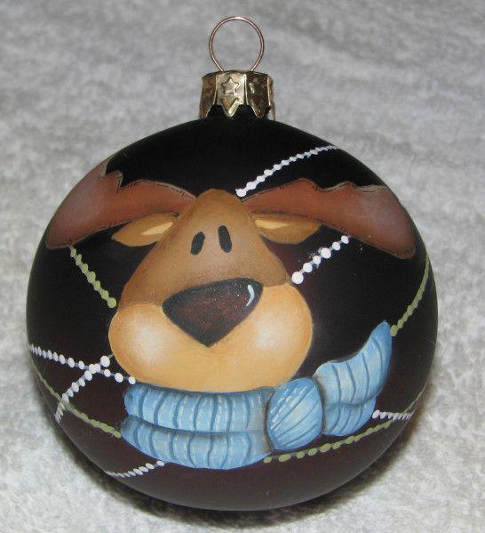 palla di natale con renna