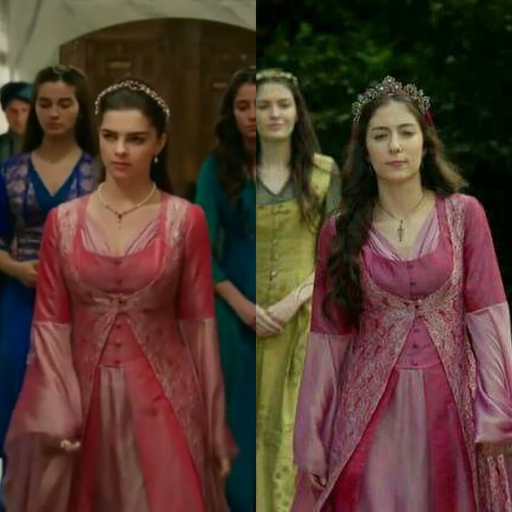 Magnificent Century- Pink dress and yelek