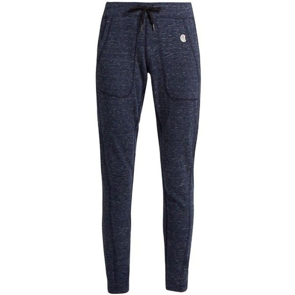 Todd Snyder + Champion Nolita cotton-jersey track pants (£100) ❤ liked on Polyvore featuring activewear, activewear pants, navy, champion sportswear, vintage sportswear, track pants, athletic sportswear and champion activewear