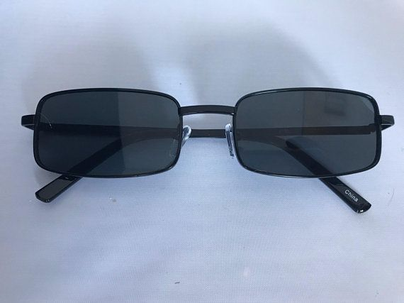 57478f55a15 Vintage 90s Rectangle Grunge Sunglasses