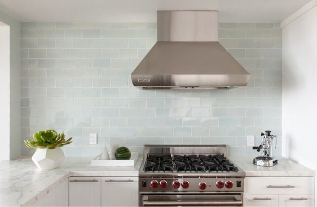 """Waterworks Architectonics Field Tile in """"Ice Water Glossy Crackle."""""""