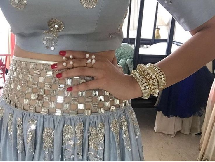 Payal Singhal # hand crafted blouse and lehenga #