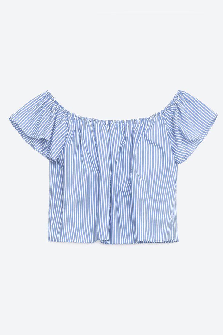 Zara Off-the-Shoulder Poplin Top