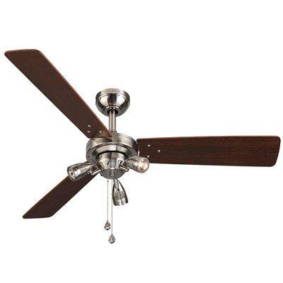 Harbor Breeze Exocet 48-in Brushed Nickel Flush Mount Ceiling Fan