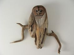 Drift wood owl. LOVE it!