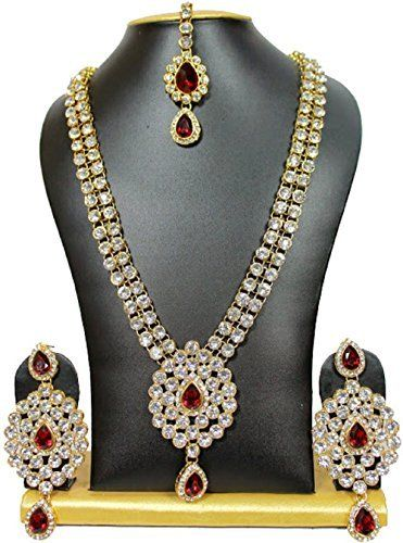Ddivaa Elegant Indian Bollywood Vidya Balan Inspired Red Ruby White Kundan Jewelry Necklace Set Ddivaa, http://www.amazon.com/dp/B01N7VH6M3/ref=cm_sw_r_pi_dp_x_KFIuzbCGM4P3G