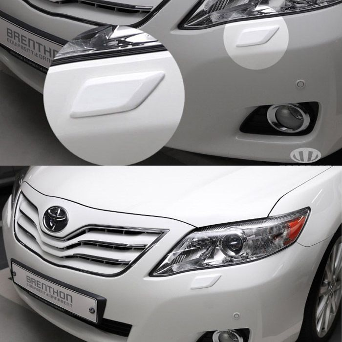 BRENTHON Car Bumper Detail Tip Pair Black White Chrome for Toyota Camry 2010 #BRENTHON #Brenthon #Bumper #Bumper_Emblem #Toyota #Camry #Camry_2010 #Detailkorea