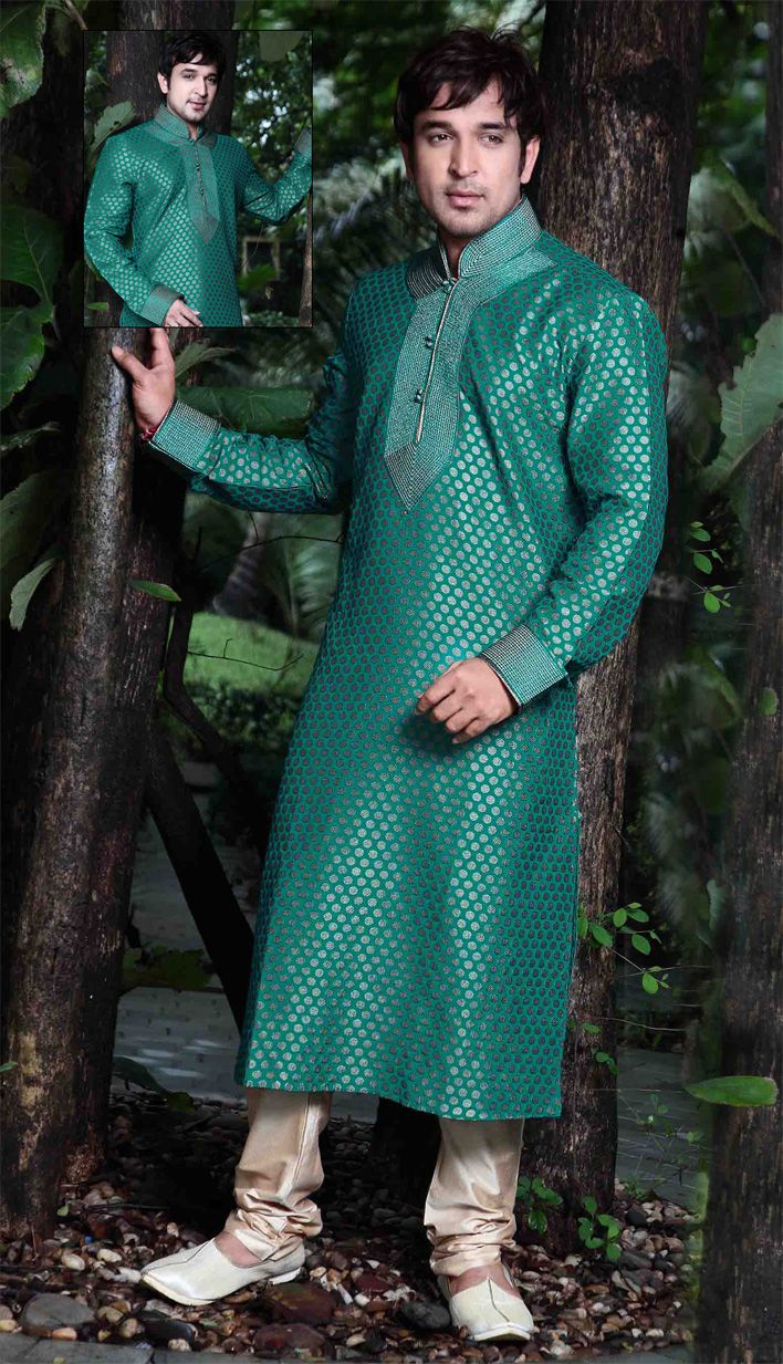 Image result for green flower brocade sherwani