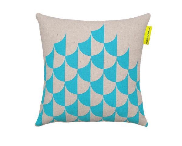 Jester aqua cushion - $69.95